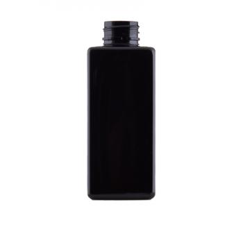250 ml-es négyzetalapú fekete PET flakon