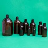 Barna gyógyszertári PET-palack 100ml-1000ml-ig