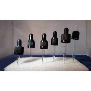 DIN 18, egyenes végű, garanciazáras, pipettás kupak